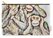 Monkey See Monkey Do Fragmented Carry-all Pouch