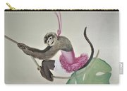 Monkey Swinging In The Trees Carry-all Pouch