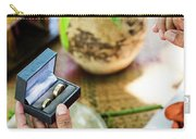 Monks Blessing Buddhist Wedding Ring Ceremony In Cambodia Carry-all Pouch