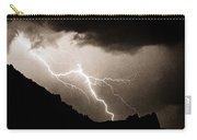 Mono Tone Lightning Striking The Ridge Carry-all Pouch