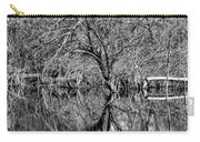 Monochrome Autumn Reflections Carry-all Pouch