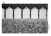 Monochrome Beach Huts Carry-all Pouch