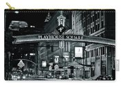 Monochrome Grayscale Palyhouse Square Carry-all Pouch