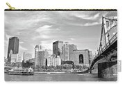 Monochrome Pittsburgh Panorama Carry-all Pouch