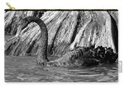 Monochrome Swimming Black Swan Carry-all Pouch