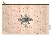 Monogram Qm Stripes Mauvecharcoal 2 Carry-all Pouch