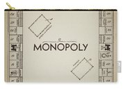 Monopoly Board Patent Vintage Carry-all Pouch