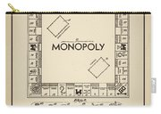 Monopoly Patent 1935 Vintage Border Carry-all Pouch
