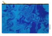 Monotone Blue Carry-all Pouch