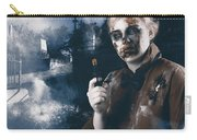 Monster In Cemetery Holding Gun. Grave Robber Carry-all Pouch by Jorgo Photography - Wall Art Gallery