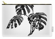 Monstera Leaf-black Carry-all Pouch