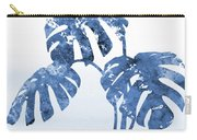 Monstera Leaf-blue Carry-all Pouch