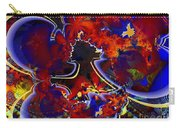 Montage In Reds And Blues Carry-all Pouch