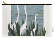 Montage With 3 Great White Egrets Carry-all Pouch