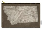 Montana Map Music Notes 3 Carry-all Pouch