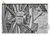 Montana Old Wagon Wheels Monochrome Carry-all Pouch