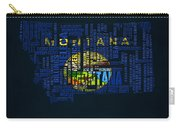 Montana Typographic Map Carry-all Pouch