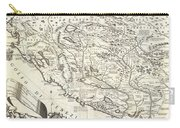 Montenegro 1690 Map Carry-all Pouch