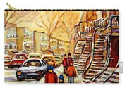 Montreal City Scene In Winter Carry-all Pouch