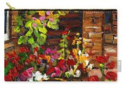 Montreal Cityscenes Homes And Gardens Carry-all Pouch by Carole Spandau