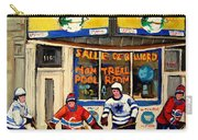 Montreal Poolroom Hockey Fans Carry-all Pouch