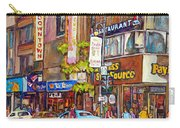 Montreal St.catherine Street Corner Peel Carry-all Pouch