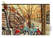 Montreal Street Hockey Paintings Carry-all Pouch