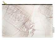Montreal Street Map Colorful Copper Modern Minimalist Carry-all Pouch