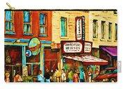 Montreal Streetscene Artist Carole Spandau Paints Schwartzs Main Street Hustle Bustle Carry-all Pouch