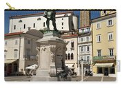 Monument And Statue Of Giuseppe Tartini At Tartini Square Piran  Carry-all Pouch