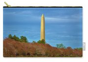 Monument Blossoms, Japanese Cherry Blossom Trees With The Washington Monument In The Background Carry-all Pouch