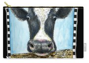 Moo Cow In Black Carry-all Pouch