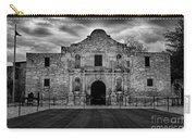 Moody Morning At The Alamo Bw Carry-all Pouch
