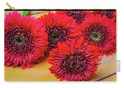 Moody Red Gerbera Dasies Carry-all Pouch