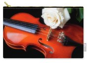 Moody Violin And Rose  Carry-all Pouch