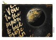Moon And Back Stars Night Carry-all Pouch