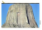 Moon And Devil's Tower National Monument, Wyoming Carry-all Pouch