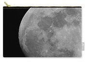 Moon In B And W Carry-all Pouch