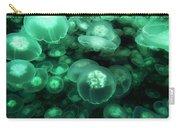 Moon Jelly Aurelia Aurita Group Carry-all Pouch