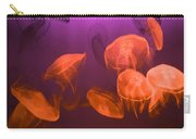 Moon Jellyfish - Red And Purple Carry-all Pouch