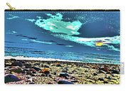 Moon Lit Beach, Bray, Wicklow, Ireland, Poster Effect1b Carry-all Pouch