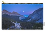 Moon Over Icefields Parkway In Alberta Carry-all Pouch