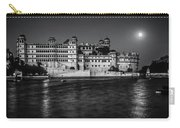Moon Over Udaipur Bw Carry-all Pouch