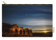 Moon Rise At Pillars Of Rome, Oregon, Usa Carry-all Pouch