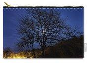 Moon Rise Behind Tree Silhouette At Night Carry-all Pouch