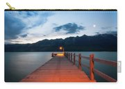 Moon Rising At Glenorchy Wharf, New Zealand Carry-all Pouch