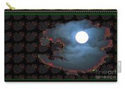 Moon Through Clouds  Photography With Graphic Flavour Created By Navinjoshi At Fineartamerica.co Carry-all Pouch