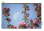 Moon Through The Crabapple Blossoms Carry-all Pouch