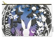Moonlight Bunny Star Gazer Carry-all Pouch