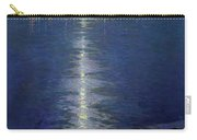Moonlight On The River Carry-all Pouch by Lowell Birge Harrison